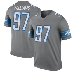Legend Nick Williams Youth Detroit Lions Color Rush Steel Jersey - Nike