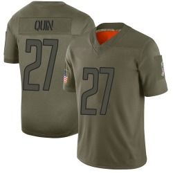 Limited Glover Quin Men's Detroit Lions Camo 2019 Salute to Service Jersey - Nike