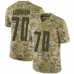 Limited Mitchell Loewen Youth Detroit Lions Camo 2018 Salute to Service Jersey - Nike